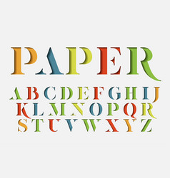 colorful stencil alphabet vector image