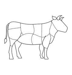 cow meat isolated icon design vector image