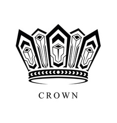 crown logo abstract design template vector image