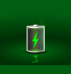 discharged and fully charged battery vector image