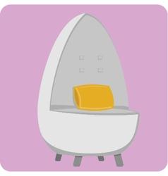 Egg chair vector