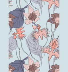 floral orchid pattern repetition tender blossom vector image