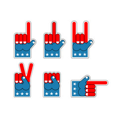 Foam finger usa patriot american sports symbol vector