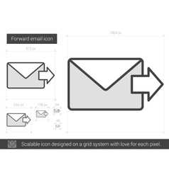 Forward email line icon vector image