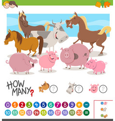 game of counting animals vector image