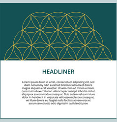 Geometric colored banner can be used in website vector