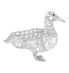 Goose coloring for adults vector