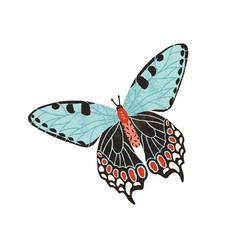 Gorgeous butterfly with pastel wings and antennae vector