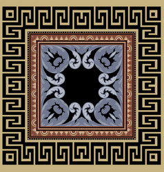 Greek seamless pattern with square frame vector