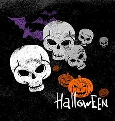 Halloween invitation poster card vector
