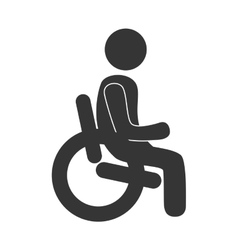 Handicap symbol in black and white colors vector image