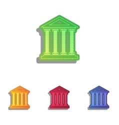 Historical building Colorfull vector