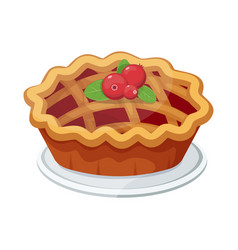 homemade fruit and berry pie for christmas vector image