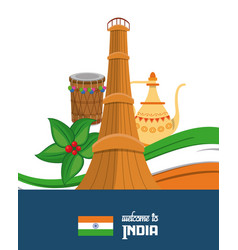 india travel card vector image