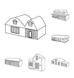isolated object of city and construction symbol vector image