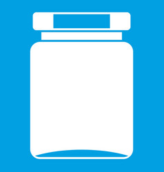 Jar icon white vector