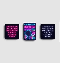 karaoke design poster karaoke party design vector image