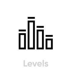 levels icon editable stroke vector image