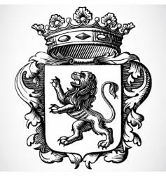lion and crown vector image