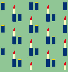 Lipstick make up seamless pattern vector