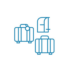 luggage linear icon concept luggage line vector image