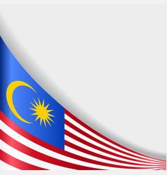 Malaysian flag background vector