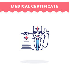 medical certificate icon flat design ui icon vector image