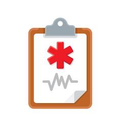 Medical clipboard icon vector