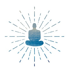Meditation Human silhouette isolated on white vector image