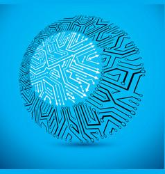 microchip design cpu information communication vector image