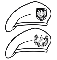 military beret vector image