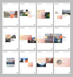 Minimal brochure templates with colorful gradient vector