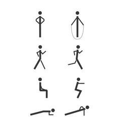 minimalistic people vector image