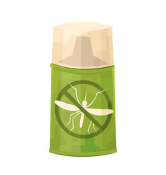 mosquito repellent spray in cartoon style isolated vector image