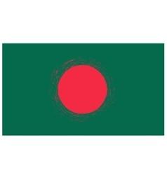 National Flag of Bangladesh Isolated vector image