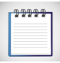 notebook on a spring with clean sheets vector image