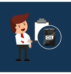Oil and petroleum industry check list vector