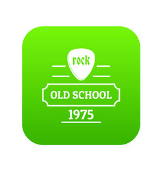 old school icon green vector image