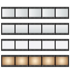 Pack film strip isolated vector