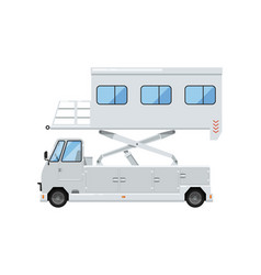 passenger lift truck for plane boarding icon vector image