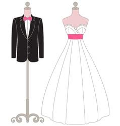 Pastel Wedding Dress Mannequin vector
