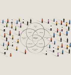 People looking for ikigai concept finding life vector