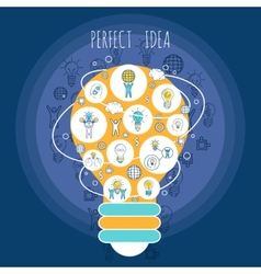 Perfect idea poster vector image