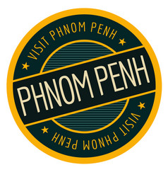 Phnom penh geographic stamp vector