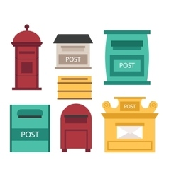Post mailbox set vector