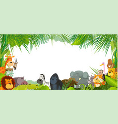 postcard with wild african animals vector image