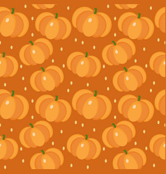 Pumpkin seamless pattern gourd endless vector