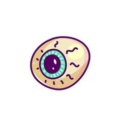 scary eyeball cartoon vector image