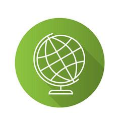 school globe flat linear long shadow icon vector image