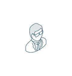 scientist chemist pharmacologist beaker vector image